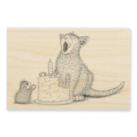 Stampendous - House Mouse Designs - Wood Mounted Stamps - Birthday Kitty