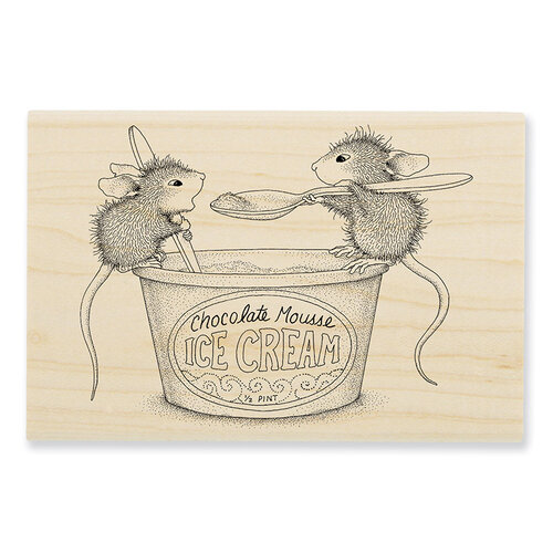 Stampendous - House Mouse Designs - Wood Mounted Stamps - Mousse Mice