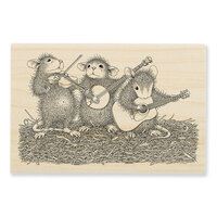 Stampendous - House Mouse Designs - Wood Mounted Stamps - Band Of Mice