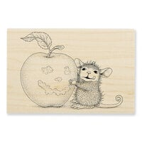 Stampendous - Halloween - Wood Mounted Stamps - Apple Smile