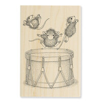 Stampendous - Wood Mounted Stamps - Little Drummers