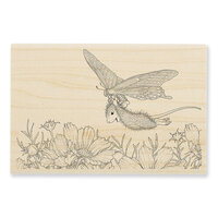 Stampendous - Wood Mounted Stamps - Butterfly Soaring