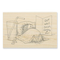 Stampendous - House Mouse Designs - Wood Mounted Stamps - Get Well Soon
