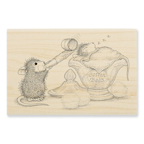 Stampendous - House Mouse Designs - Wood Mounted Stamps - Sleepy Surprise