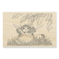 Stampendous - House Mouse Designs - Wood Mounted Stamps - Apple Snack