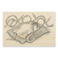 Stampendous - House Mouse Designs - Wood Mounted Stamps - Balsam Nap