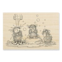 Stampendous - House Mouse Designs - Wood Mounted Stamps - Soaping Up