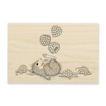 Stampendous - House Mouse Designs - Wood Mounted Stamps - Juggling Berries