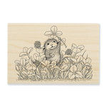 Stampendous - House Mouse Designs - Wood Mounted Stamps - Lucky Clover