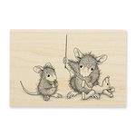 Stampendous - House Mouse Designs - Wood Mounted Stamps - Teddy Mouse Mend