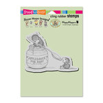 Stampendous - House Mouse Designs - Wood Mounted Stamps - Feeding Baby