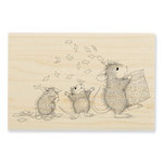 Stampendous - House Mouse Designs - Wood Mounted Stamps - Tossing Confetti