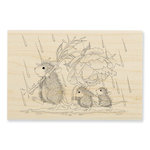 Stampendous - House Mouse Designs - Wood Mounted Stamps - Peony Umbrella