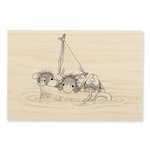 Stampendous - House Mouse Designs - Wood Mounted Stamps - Sail Cup