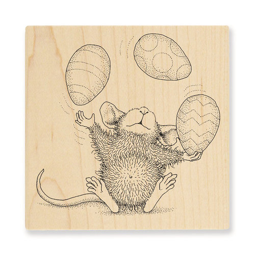 Stampendous - House Mouse Designs - Wood Mounted Stamps - Easter Egg Juggle