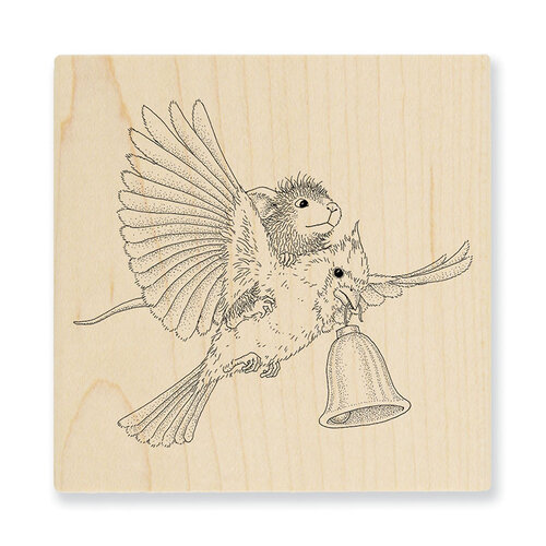 Stampendous - Christmas - House Mouse Designs - Wood Mounted Stamps - Cardinal Bell