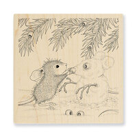 Stampendous - Christmas - Wood Mounted Stamps - Snowmouse