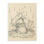 Stampendous - House Mouse Designs - Wood Mounted Stamps - Soapy Smile