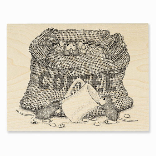 Stampendous - House Mouse Designs - Wood Mounted Stamps - Coffee Break