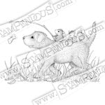 Stampendous - House Mouse Designs - Wood Mounted Stamps - Dog Ride