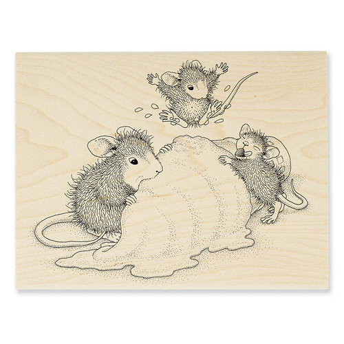 Stampendous - House Mouse Designs - Wood Mounted Stamps - Ice Cream Crazy