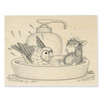 Stampendous - House Mouse Designs - Wood Mounted Stamps - Bird Bath
