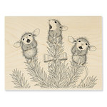 Stampendous - House Mouse Designs - Christmas - Wood Mounted Stamps - Pine Carolers