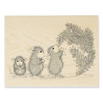 Stampendous - House Mouse Designs - Christmas - Wood Mounted Stamps - Star Decorations