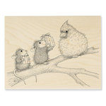 Stampendous - House Mouse Designs - Christmas - Wood Mounted Stamps - Birdie Gifts