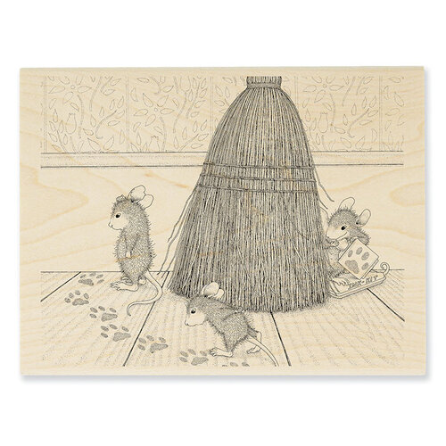 Stampendous - House Mouse Designs - Wood Mounted Stamps - Cat Tracking