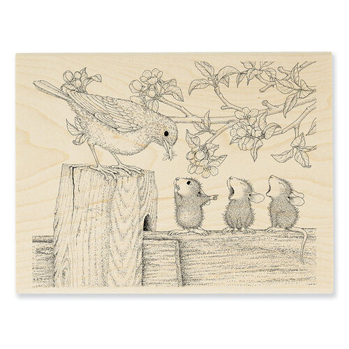 Stampendous - House Mouse Designs - Wood Mounted Stamps - Tweet Treat
