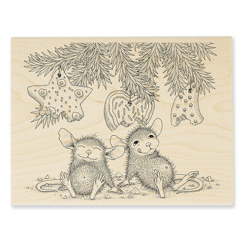 Stampendous - Christmas - House Mouse Designs - Wood Mounted Stamps - Cookie Ornaments