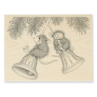 Stampendous - Christmas - House Mouse Designs - Wood Mounted Stamps - Bell Swinging