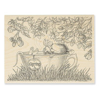 Stampendous - House Mouse Designs - Wood Mounted Stamps - Jasmine Tea
