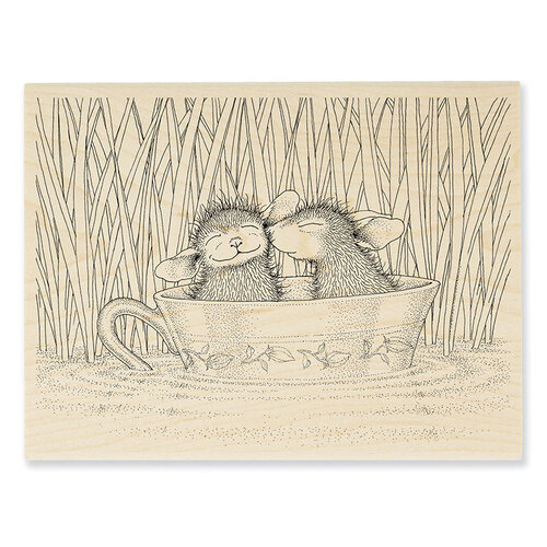 Stampendous - House Mouse Designs - Wood Mounted Stamps - Teacup Kiss