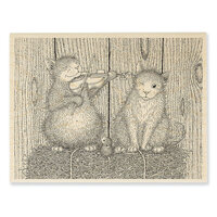 Stampendous - House Mouse Designs - Wood Mounted Stamps - Cat And The Fiddle