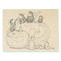 Stampendous - Wood Mounted Stamps - Pumpkin Paint