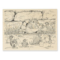 Stampendous - Halloween - Wood Mounted Stamps - Chipmunk Treats