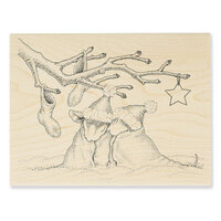 Stampendous - Wood Mounted Stamps - Christmas Cuddle