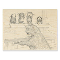 Stampendous - Wood Mounted Stamps - Kitten On The Keys