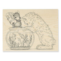 Stampendous - Wood Mounted Stamps - Curious Kitten