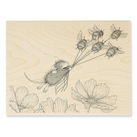 Stampendous - House Mouse Designs - Wood Mounted Stamps - Bumble Bee Fun