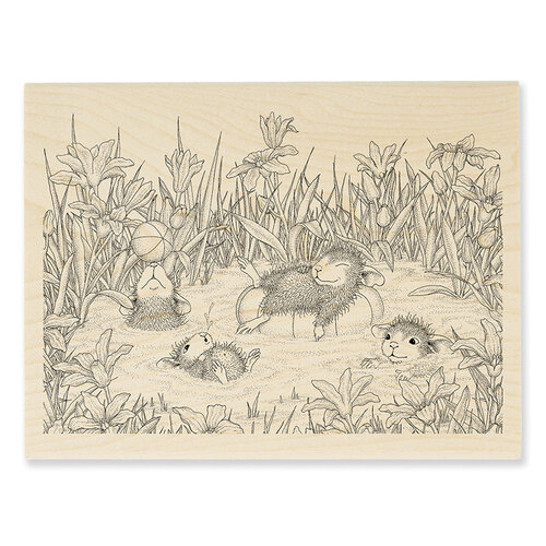 Stampendous - House Mouse Designs - Wood Mounted Stamps - Pool Play