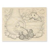 Stampendous - House Mouse Designs - Wood Mounted Stamps - Chiminea Roast