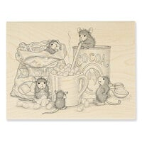 Stampendous - House Mouse Designs - Wood Mounted Stamps - Marshmallow Mice