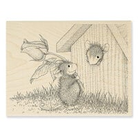 Stampendous - House Mouse Designs - Wood Mounted Stamps - Rose Surprise