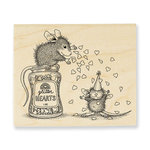 Stampendous - House Mouse Designs - Wood Mounted Stamps - Glitter Hearts