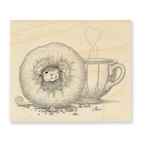 Stampendous - House Mouse Designs - Wood Mounted Stamps - Donut Day