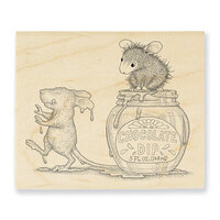 Stampendous - House Mouse Designs - Wood Mounted Stamps - Chocolate Dip