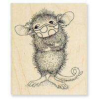 Stampendous - House Mouse Designs - Wood Mounted Stamps - Masked Maxwell